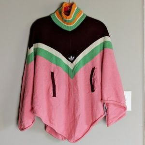 Adidas Carlos Gruber Pink Green Poncho sz Small